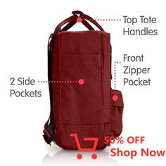 Kanken Mini Backpack Outer Polypropylene Backpack Model:Kids Gender:Kids Concept:Outdoor cm cm cm Weight g L Non Textile Parts of Animal Origin:No Activity:Everyday Outdoor Laptop pocket:No