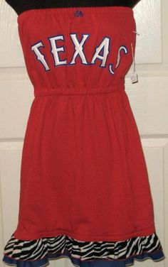 Texas Rangers Dress, saw these at Canton...