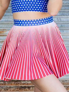 Star Spangled Cheerleader Skirt - LIMITED (US ONLY $52USD) by Black Milk Clothing