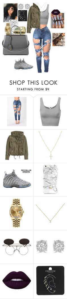 """""""Untitled # 13 ☀"""" by neka3170 ❤ liked on Polyvore featuring H&M, Sydney Evan, NIKE, Rolex, Effy Jewelry, Lime Crime, Topshop and Fendi"""