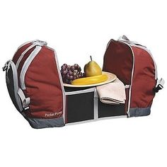 A cooler concealing an expandable table. Kelty Pocket Picnic (campingmaxx.com)| 26 Ridiculously Clever Products With A Secret