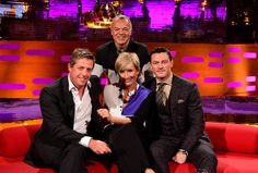 Emma is joined on Graham's couch by actors Hugh Grant and Luke Evans and singer Lenny Kravitz on tonight's show.