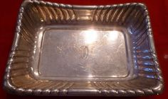 Reed & Barton Tray Sterling Silver Large Tray X304  Vintage Rare Estate #ReedBarton