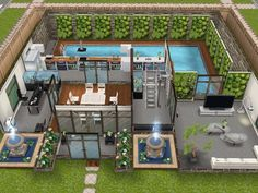 House 54 Large Urban Loft (ground level) #sims #simsfreeplay #simshousedesign