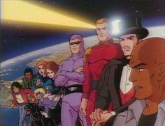"""Defenders of the Earth (1986-1987) - [intro] - Série animada clássica dos """"anos cromos"""", o 27º Fantasma (Peter Mark Richman) fazia parte de uma equipa de heróis que defendiam o planeta: Mandrake (também criado por Lee Falk) e Flash Gordon, que tal como o Fantasma são personagens da editora King Features."""