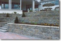 Great Idea for a retaining wall.
