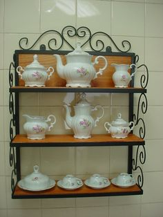 prateleiras de madeira rustica para cozinha - Pesquisa Google