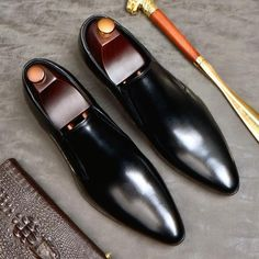 Leather Slip Ons, Leather Men, Leather Shoes, Real Leather, Mens Italian Dress Shoes, Men Dress, Suit Shoes, Shoes Men, Gents Shoes