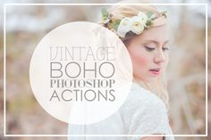 Vintage Wedding Photoshop Actions by CloverAndCrow on Creative Market