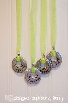The Rachel Berry Blog: { Stamping Metal Washers - Stake Girls Camp Style }