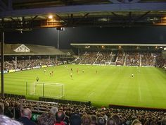 Craven Cottage...its not old trafford, but craven cottage is a pretty amazing stadium to watch a football match in