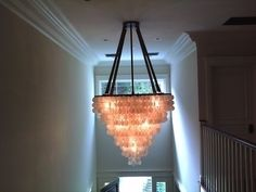 Gorgeous chandelier we installed in Pacific Palisades