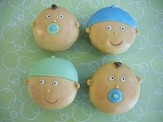 Cute cupcakes for a baby boy shower!