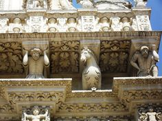 Wonderful baroque in the magnificent city of Lecce, Salento, the heel of the Italian boot.