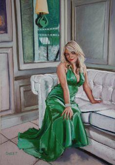 """""""Galgorm Green""""  Soft pastel on board primed with pumice. Giclee prints from www.davidsweet.co.uk"""
