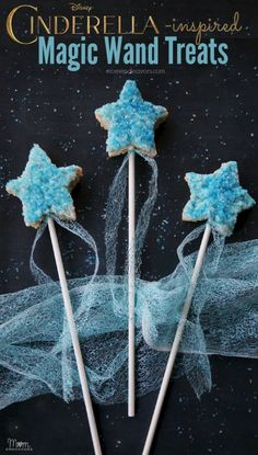 Cinderella magic wand treats, what a fun snack for a movie party (or any Disney themed party)!!