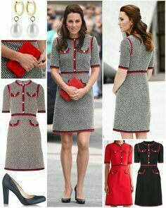 """Catherine, Duchess of Cambridge """"The Duchess was looking very chic for today's visit to the Victoria and Albert Museum in a new…"""" Estilo Kate Middleton, Kate Middleton Outfits, Kate Middleton Style, Kate Middleton Fashion, Kate Middleton Prince William, Prince William And Kate, Duchess Kate, Duchess Of Cambridge, Merian"""