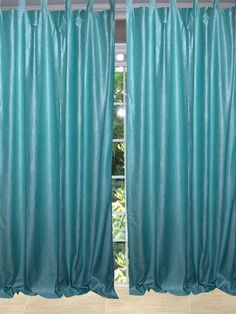 "Our Sari curtains actually gives a great impact to get the luxurious look of a room design. Fabric: Made with Polyester Sari fabric. Size : Width: 48"" Length: 108""."
