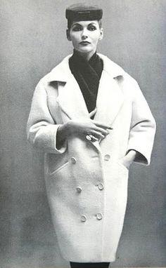 Harper's Bazaar September 1953 Coats by Balenciaga, photos Richard Avedon