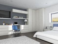 Soho fitted bedroom in Hornschurch white #modern #bedroom #LarkandLarks