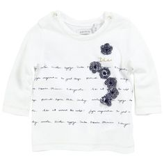 White T-shirt with long sleeves