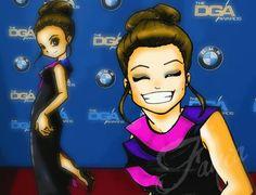Stana Katic #DGA Fanart  #Inspiration #StanaKatic #Fania #Drawings