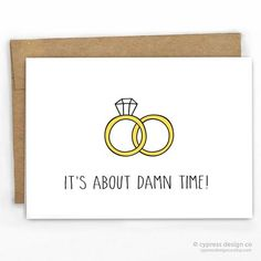 Funny Wedding Congratulations Card by Cypress Card Co. | 100% Recycled Boutique Luxury Cards | More at www.cypresscardco.com | Retail + Wholesale