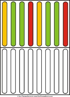 Create a popsicle stick pattern on a sheet of paper and provide matching sticks for children to recreate the patterns ...
