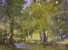 "Roger Dale Brown ""Warming by Crosby Creek"""