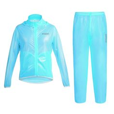 Xing Show Waterproof Outdoor Cycling Jerseys Cycling Raincoat Suit Bike Riding (L, Blue). Name:cycling jacket. Gender:Unisex. Size:S M L XL XXL. Material:100% POLYESTER. Applicable:Cycling, Outdoor Sports.