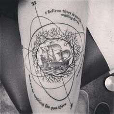 Done by Jason at Alchemy Tattoo in Los Angeles, CA USAI believe there is another world waiting for us. A better world, and Ill be waiting for you there - Cloud Atlas