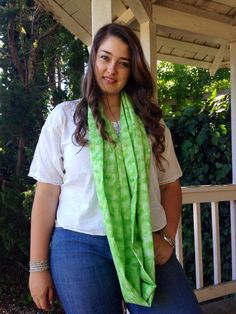 Summer green infinity scarf on Etsy, $9.99