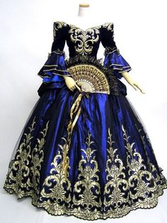 19th century embroidered gown