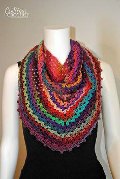 Ravelry: Calliope Any Day Any Way Shawl pattern by Lorene Haythorn Eppolite- Cre8tion Crochet