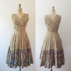 1950s Summer Paisley Block print dress by no carnations, $125.00