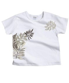 Rainforest Wrap - White Scoop Neck T-Shirt