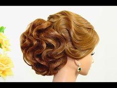 M Hairstyles for medium hair. Updo hairstyles. Bridal wedding hairstyles - YouTube