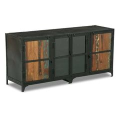 "Vintage Industrial TV Stand Sale Price: $398.00  Clearance Price: $381.00  Dimensions: 28""h x 60""w x 19""d  Product SKU: SIE-A781R Brand: Shivam International"