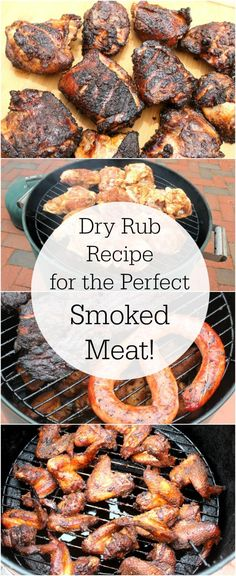 Smoked Meat Dry Rub - Dry rub recipe for smoked chicken, pork and other meat - Dry Rub Recipes, Smoked Meat Recipes, Pork Recipes, Smoked Beef, Sausage Recipes, Smoked Chicken Rub, Salami Recipes, Smoked Brisket, Spinach Recipes