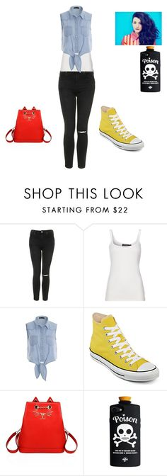 """""""Yes/No"""" by rachel-anne-armstrong-toro ❤ liked on Polyvore featuring Topshop, Polo Ralph Lauren, Converse and Charlotte Olympia"""