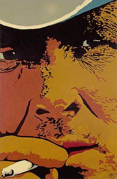 Marlboro 1976 | Geraldo de Barros óleo e colagem sobre compensado, c.i.d. 283.00 x 183.00 cm