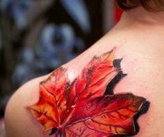 Deep 3D Leaf back shoulder