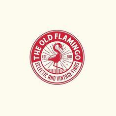 New Vintage Logo Design Inspiration Crests Ideas Circle Logo Design, Circle Logos, Badge Design, Round Logo Design, Vintage Graphic Design, Graphic Design Typography, Branding Design, Kreis Logo Design, Flamingo Logo