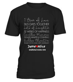 Limited Edition-October,1 years of love  Funny Anniversary T-shirt, Best Anniversary T-shirt