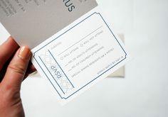 Unique Reply Card — Ticket Stub Invitation by LOTUS&ASH