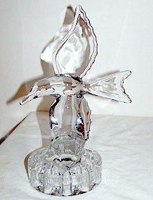"""Elegant Glass - Cambridge - Seagull Flower Frog 9 1/2"""""""