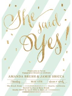 engagement party champagne brunch invite. Invite from digibuddha on etsy.
