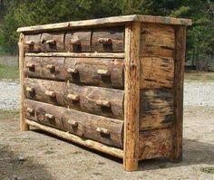 . Rustic Log Furniture, Cabin Furniture, Furniture Projects, Furniture Plans, Cool Furniture, Furniture Stores, Office Furniture, Bedroom Furniture, Medieval Furniture