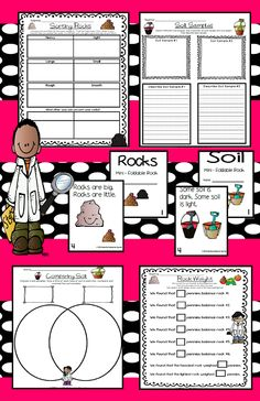 This action packed unit on Rocks and Soil will keep your kiddos engaged for several weeks with Learning Stations for Rocks, Activities for Exploring Soil, a Soil Experiment, and 2 Non-Fiction Readers! $