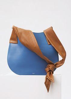 Large Ribbon Handbag in Shiny Smooth Calfskin - Céline